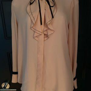 Cream-peachish blouse with tie